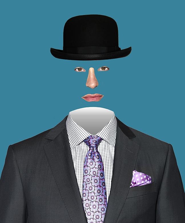 Faceless Magritte M Penner Photo