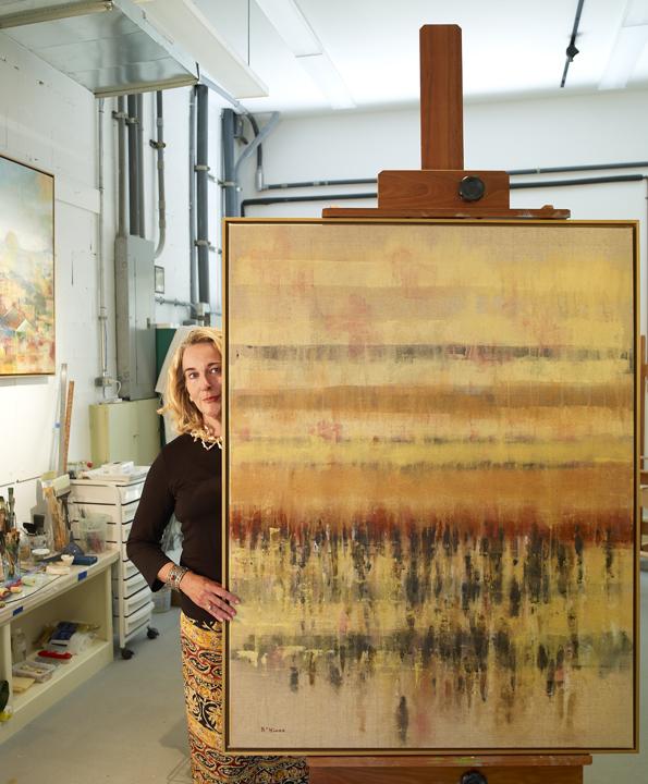 Barbara Hines in Studio